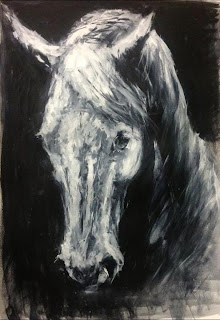 Soliloquy, equestrian art, horse painting