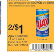 Walgreens ~ Stock up on Ajax Cleanser at $0.25 each!