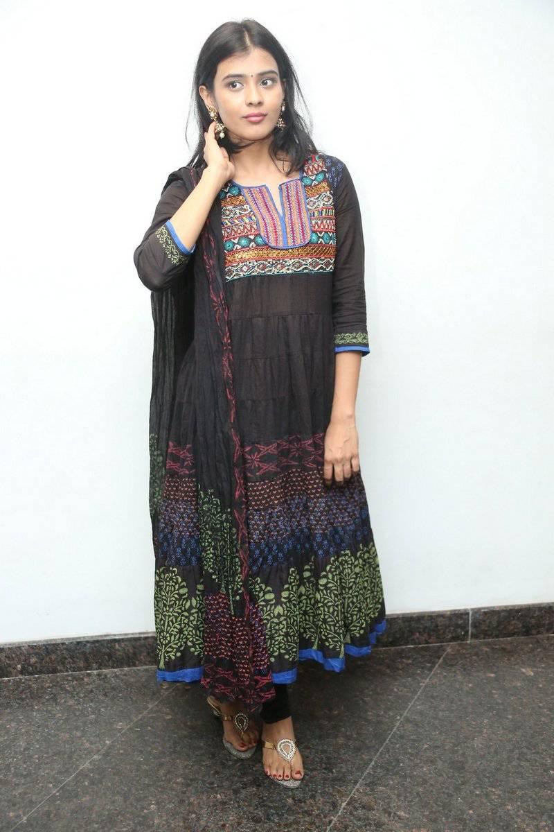 Actress Habah Patel Hot Stills In Black Dress