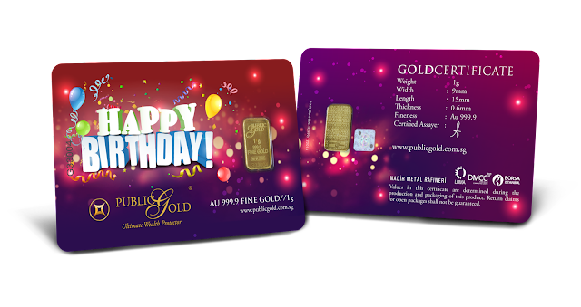 Gold Bar 1 g Edisi Birthday
