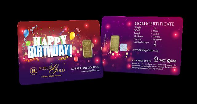 Gold Bar 1 g Edisi Birthday