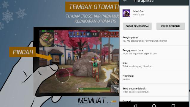 Total Size Game FPS Android MaskGun Multiplayer Kontrol Cocok Untuk Pemula