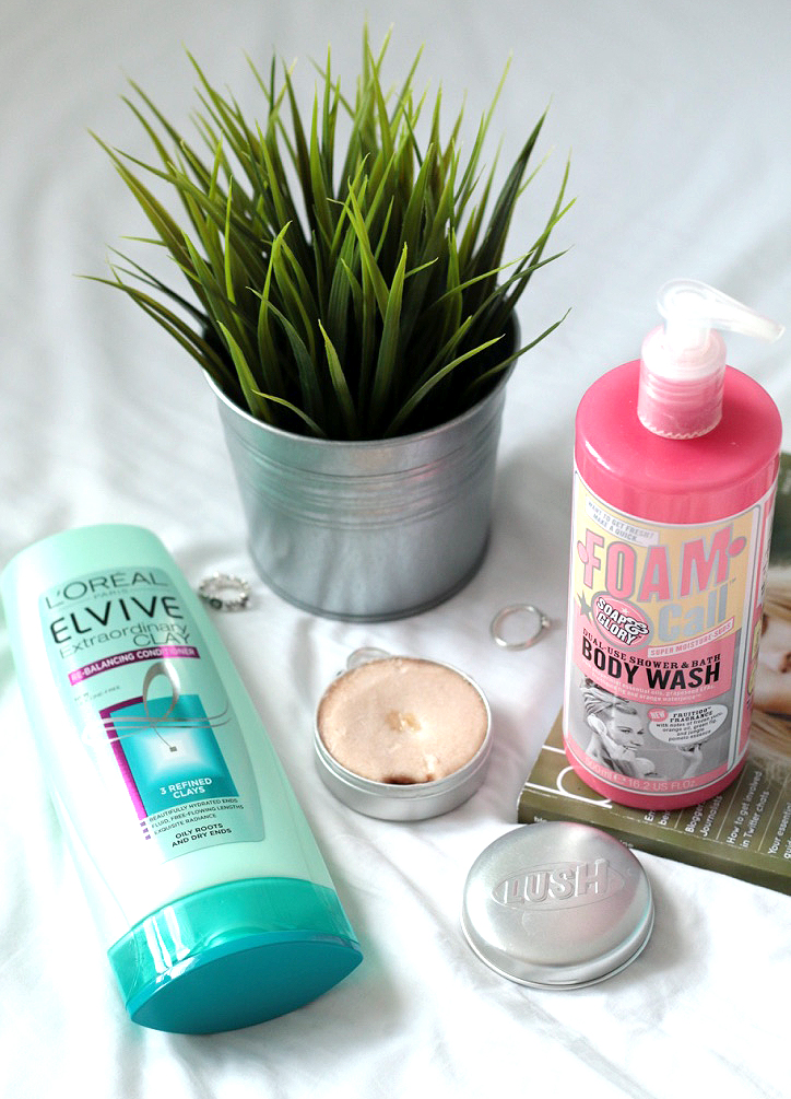 shop my shower, blogger, beauty blogger, soap and glory, l'oreal paris, haircare, hair products, makeup, lifestyle blog, LUSH cosmetics