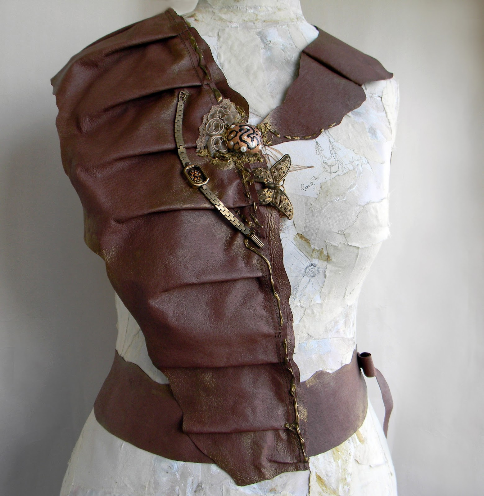 Unique Handmade Body Jewelry Fashion Steampunk Harness Leather Harness