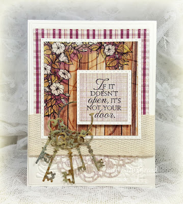 Our Daily Bread Designs Stamp Set: Key to Happiness, Our Daily Bread Designs Custom Dies: Keys, Squares, Double Stitched Squares, Doily, Vintage Flourish Pattern, Our Daily Bread Designs Paper Collection: Rustic Beauty