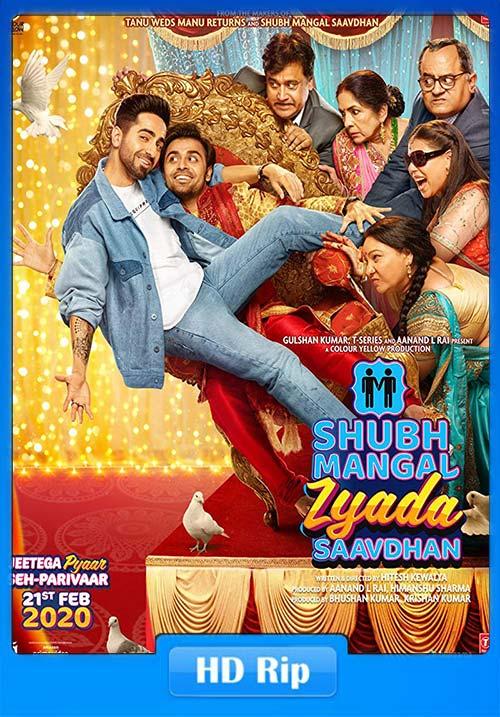 Shubh Mangal Zyada Saavdhan 2020 Hindi PreDVD 720p x264 | 480p 300MB | 100MB HEVC