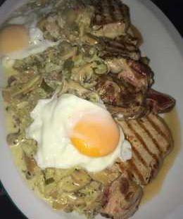 Huevos en Salsa de Hongos