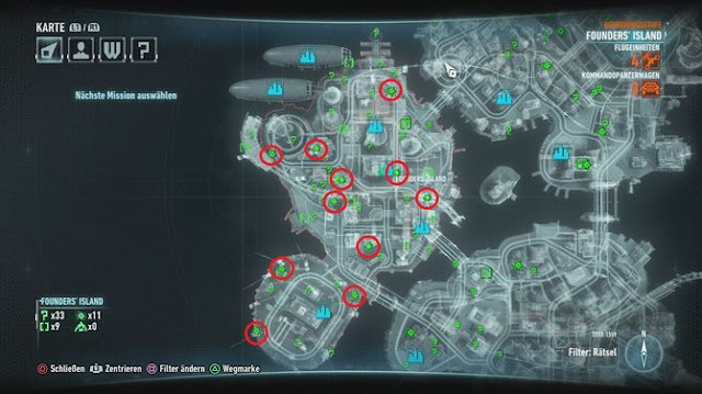 Founders Island Subway Map.Batman Arkham Knight All Breakable Objects And Locations