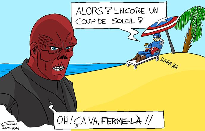 Marvel : Crâne rouge et Captain America coup de soleil