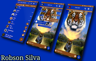 Tiger Theme For GBWhatsApp By Robson