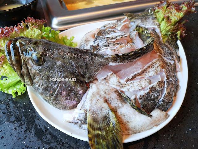 Grouper Fish at Kofuku Tei Steamboat