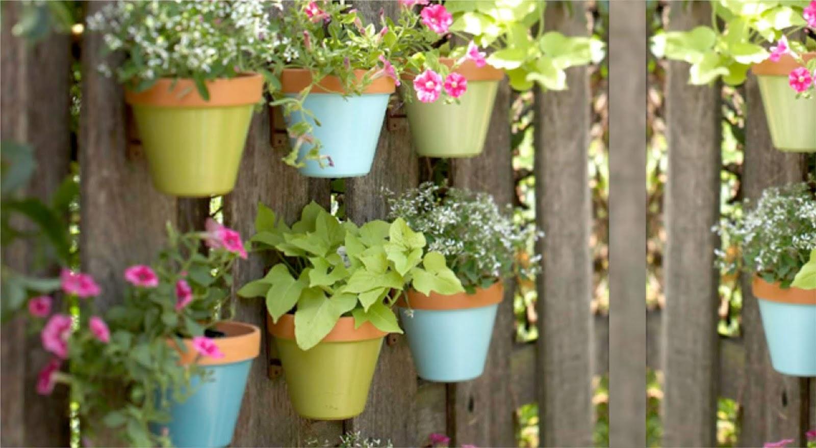 pastel vertical garden