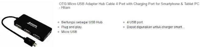 harga kabel usb otg 4 port terbaru