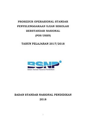 Download POS Ujian Sekolah Berstandar Nasional (USBN) Tahun Pelajaran 2017/2018