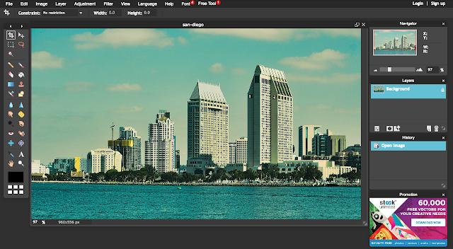 Pixlr photo editing app