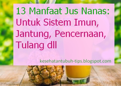 Manfaat Jus Nanas: Untuk Sistem Imun, Jantung, Pencernaan, Tulang dll
