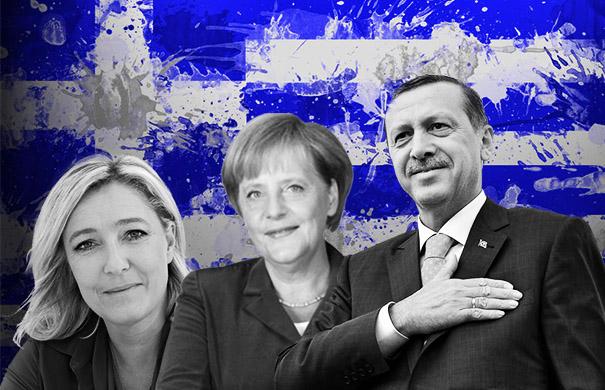 Τι ανησυχεί την ελληνική κυβέρνηση; H Λεπέν, η Μέρκελ και ο Ερντογάν