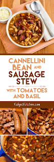 Cannellini Bean and Sausage Stew with Tomatoes and Basil found on KalynsKitchen.com