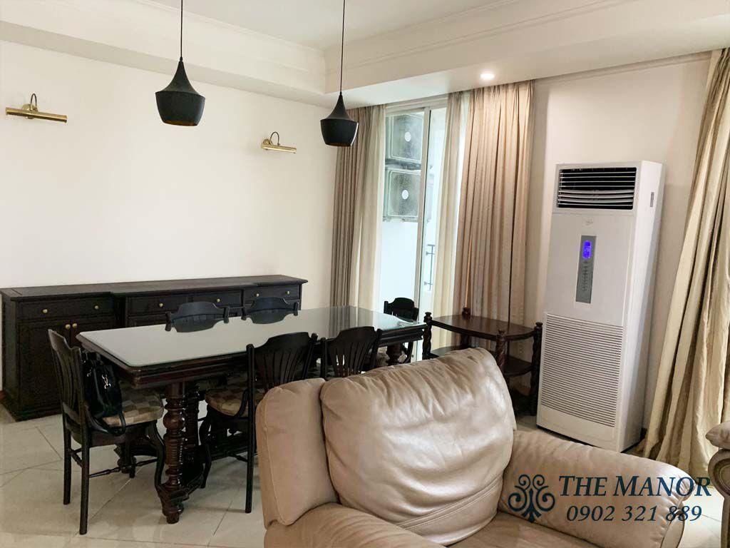 bộ sofa và bàn phòng khách căn hộ the manor 167m2 cho thuê