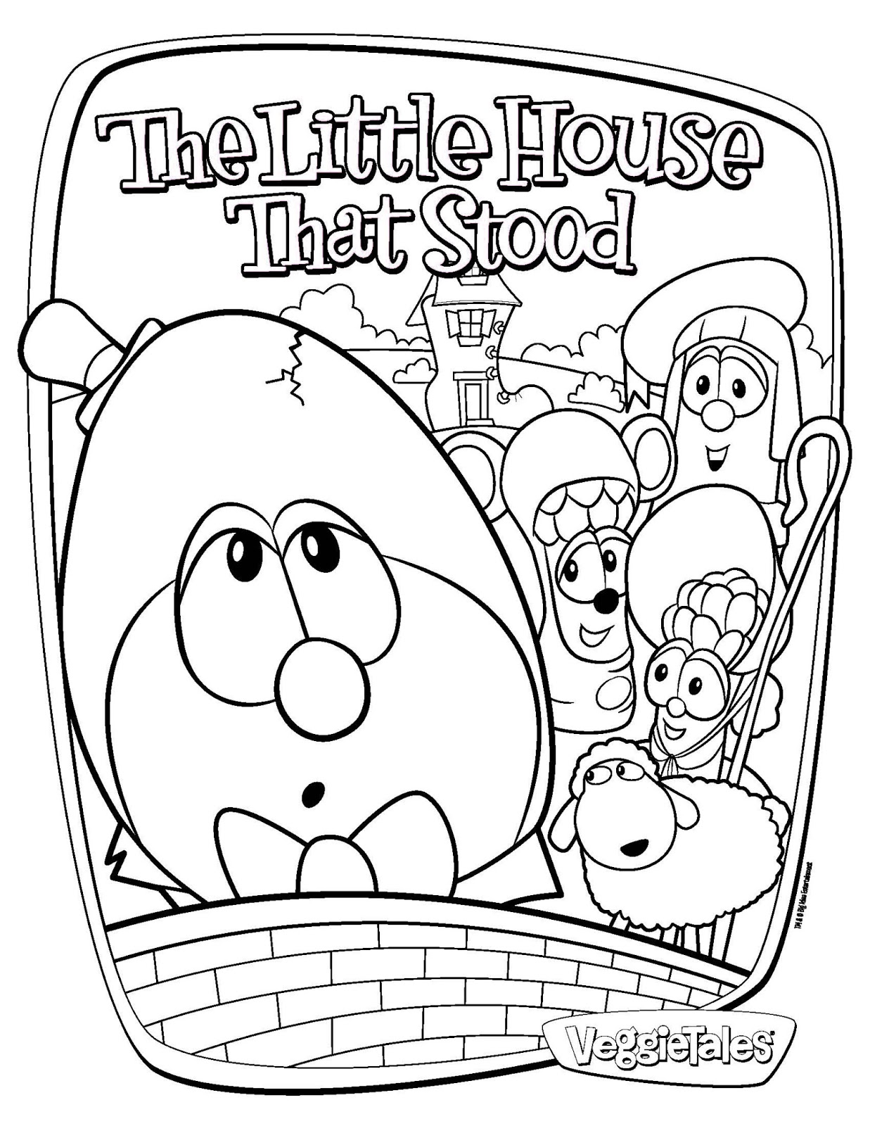 We love to homeschool veggietales the little house that for Little house coloring pages