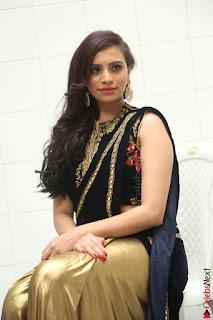 Priyanka Ramana in Beautiful Designer Black Saree At We Craft Elegance Expo Launch 004.JPG