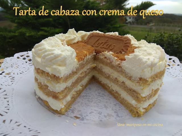 Tarta De Calabaza Con Crema De Queso