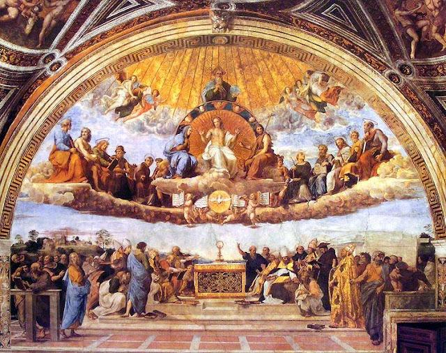 Foto: Afresco Disputa del Sacramento - Raffaello Sanzio, 1509