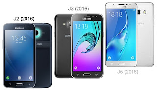 Perbandingan Galaxy J2 (2016) vs J3 (2016) vs J5 (2016)