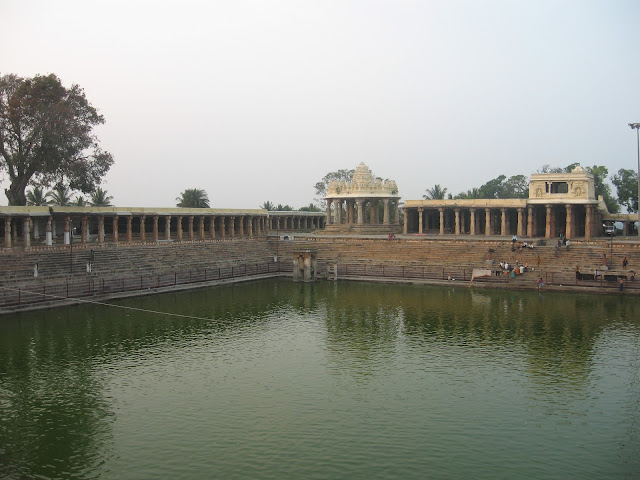 Temple pond in Melukote