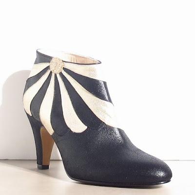 Boots cuir noir Patricia Blanchet