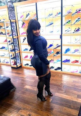 Ch3A63nUYAA0tzz Photos: P*rN actress, Afrocandy displays her underwear in a shoe shop