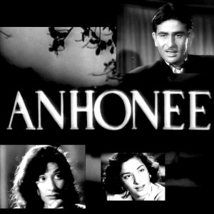Poster Of Bollywood Movie Anhonee (1952) 300MB Compressed Small Size Pc Movie Free Download worldfree4u.com
