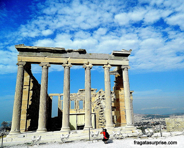 Templo das Cariátides (Erechteion) da Acrópole de Atenas