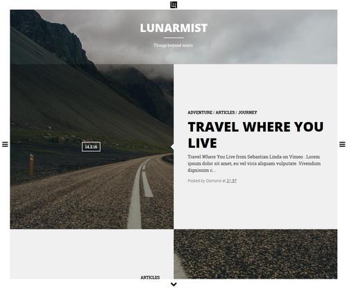 LunarMist Blogger Template