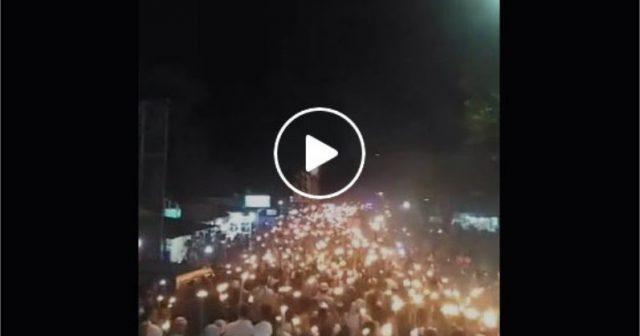 Allahu Akbar, Muslim Poso Gelar Aksi Sejuta Obor Dukung Ulama