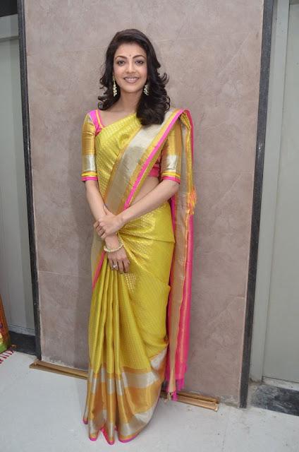Kajal Agarwal Stills At Trisha Designer Store Launch In Banjara Hills