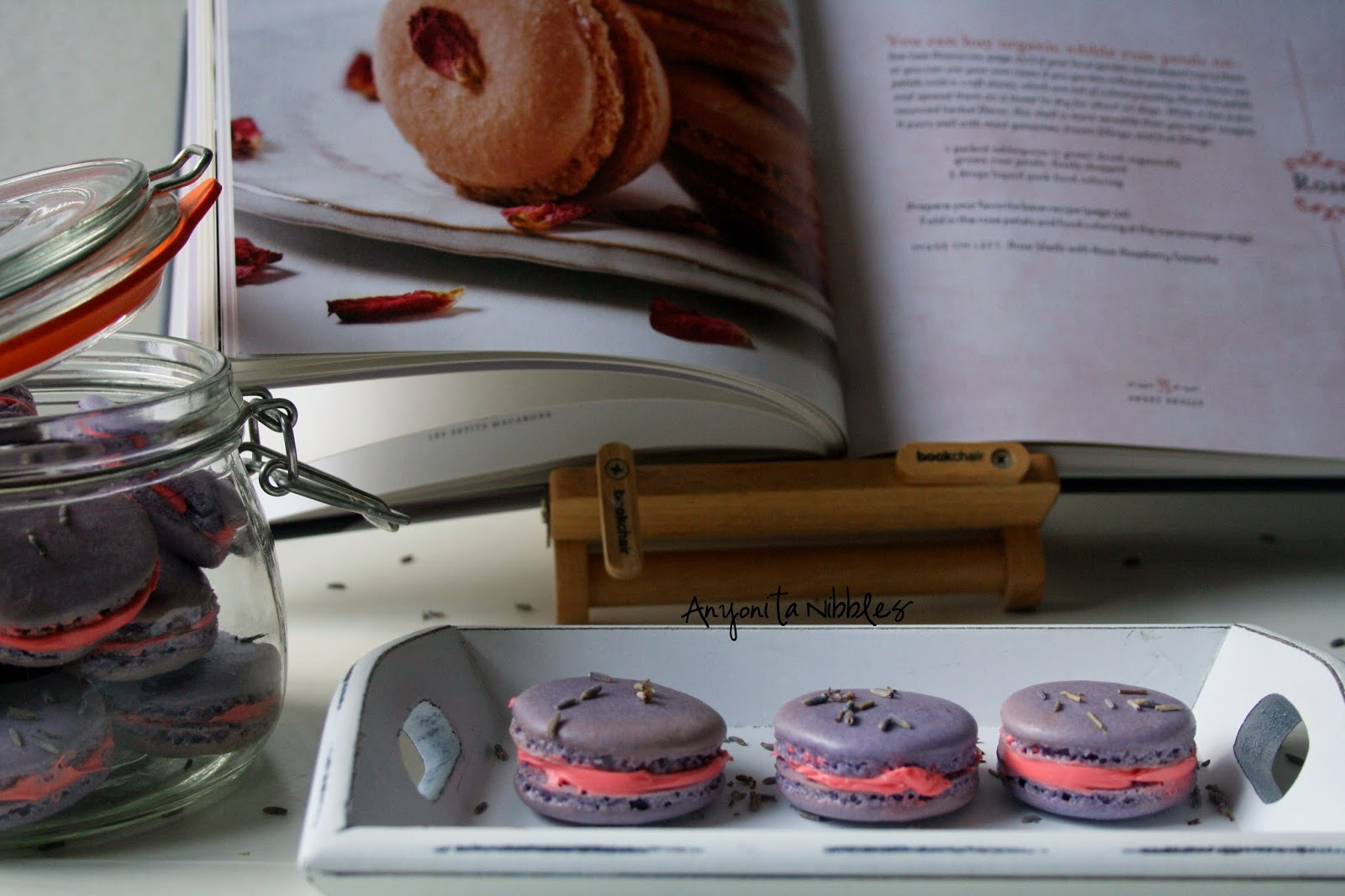 Mother's Day Lavender and Rose Macarons from www.anyonita-nibbles.co.uk