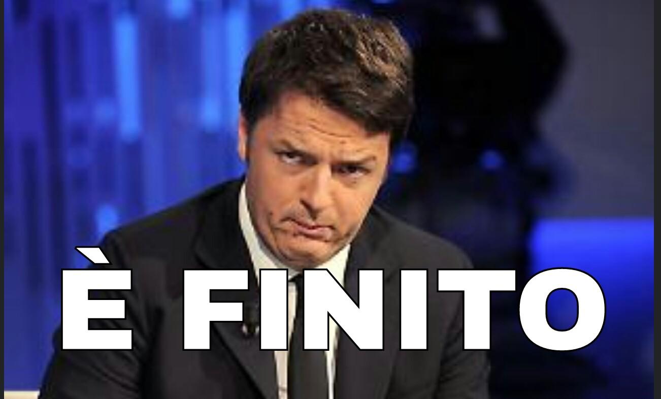 Risultati immagini per Renzi è finito