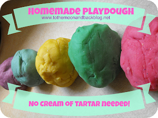 Homemade Playdough (No Cream of Tartar Needed!)