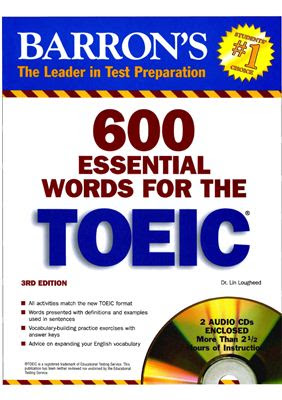 BARRON'S 600 Essential Words for the TOEIC (3rd Edition)