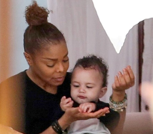 Pictures of janet jackson and wissam al mana Janet Jackson;s Mother s Day: Spent Playing With Son Eissa Al