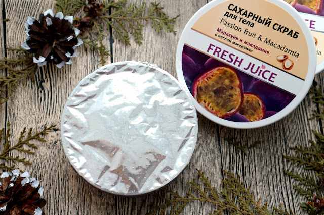 """Fresh Juice Passion Fruit & Macadamia Сахарный скраб для тела """"Маракуйя и макадамия"""""""