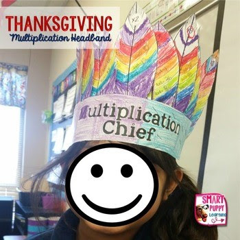 multiplication headband craftivity
