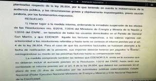 Katopodis se refirió a la medida cautelar interina dictada por el Juzgado Federal Civil y Comercial N° 2 -Secretaría Nº 2- de San Martín, en el marco de la acción de amparo que presentó junto a la Asociación de Defensa de Derechos de Usuarios y Consumidores, que suspende el aumento de tarifas de luz para todos los habitantes de la ciudad.