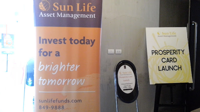 Sun Life Prosperity Card because it enlightened me! The launch was held last August 19, 2016 in B Hotel Quezon City.