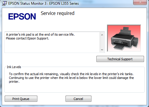 How to Fix Red Light Blinking Error in All Epson L Series Printers