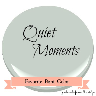 favorite paint color benjamin moore quiet moments