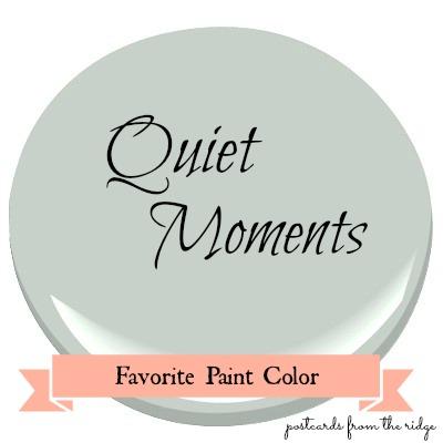 Benjamin Moore Quiet Moments paint swatch