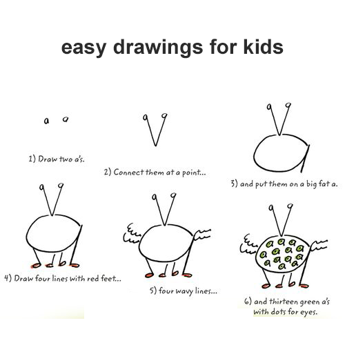 easy drawings for kids ~ Art and drawing