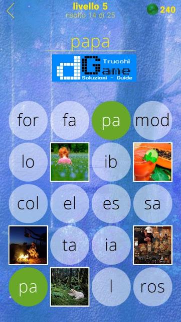650 Foto soluzione pacchetto 5 livelli (1-25)